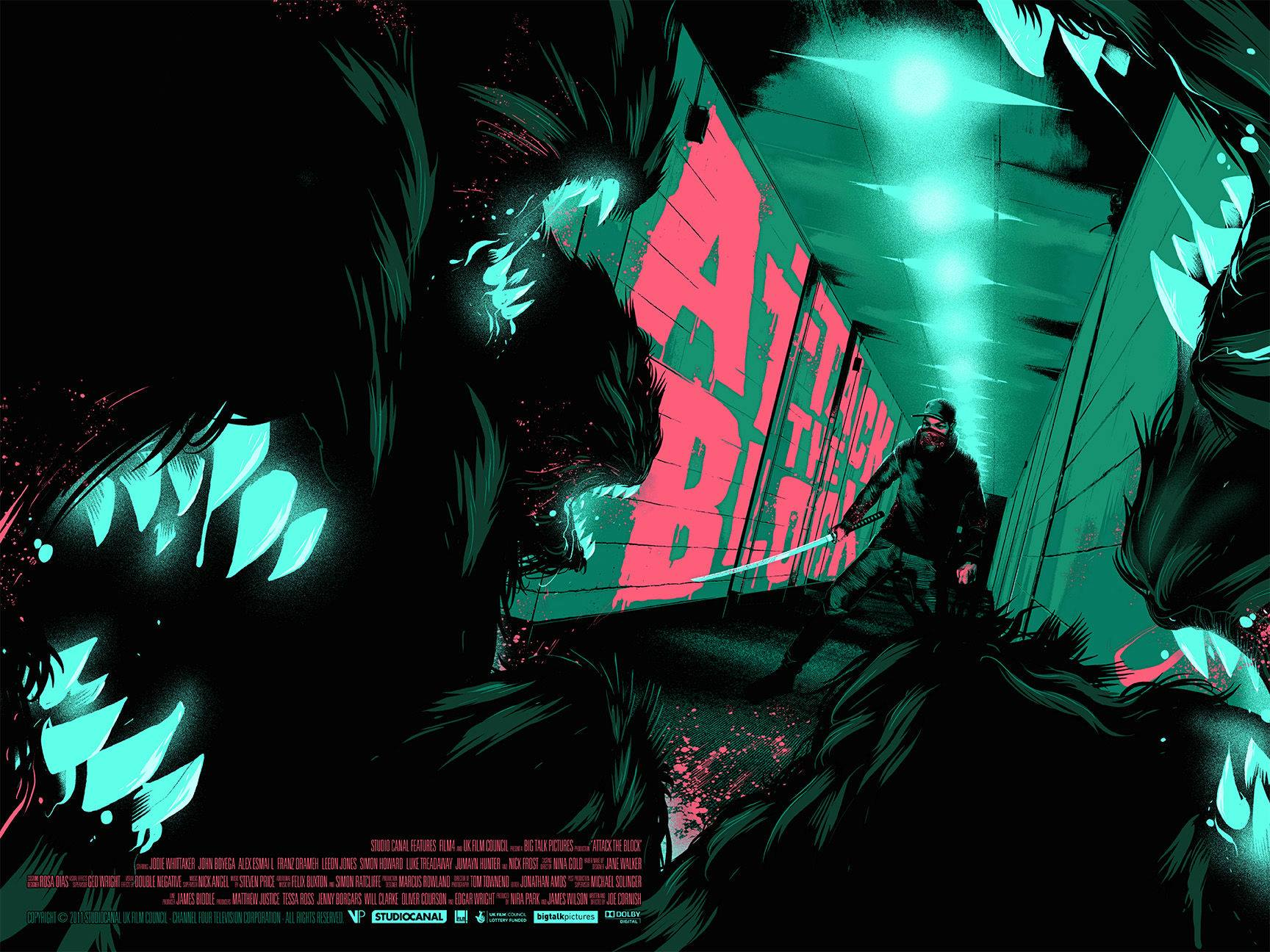 """Attack The Block"" by Matt Taylor.  24"" x 18"" Screenprint w/ GID.  Ed of 185 N.  £30 ($46)"