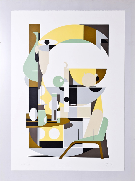 Untitled by Alexey Luka.  70 x 50cm 7-color Screenprint.  Ed of 28 S/N.  $125