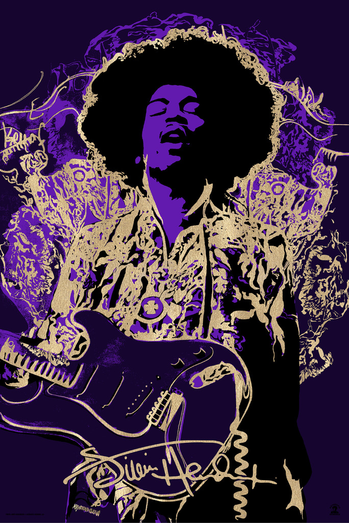 """Jimi Hendrix"" Standard Edition of 175  $65"