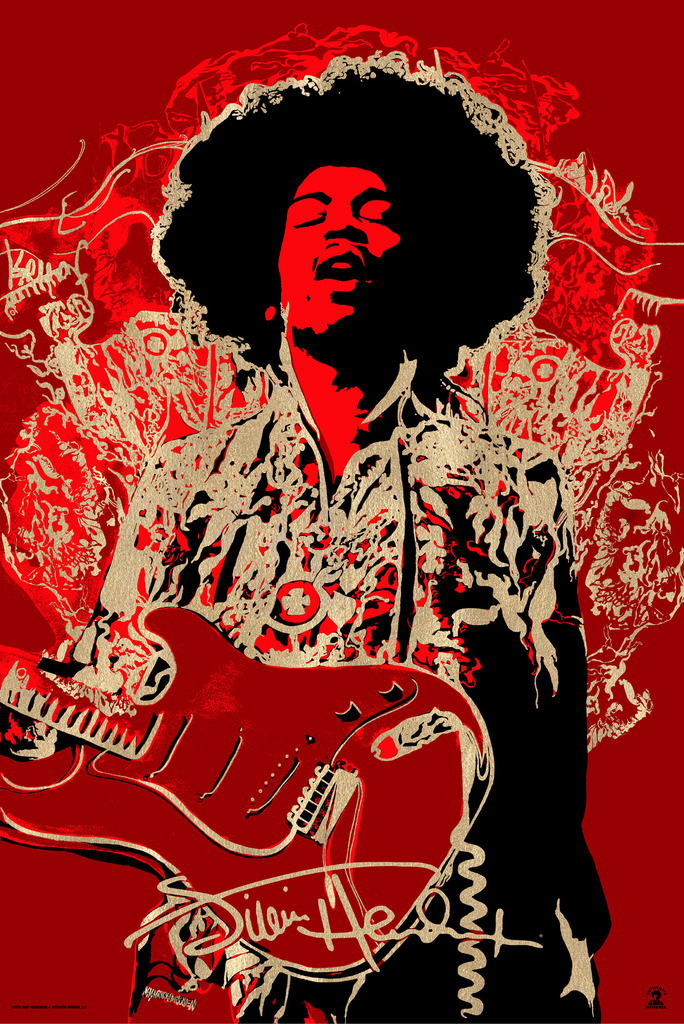 """Jimi Hendrix"" Variant Edition of 50  $100"