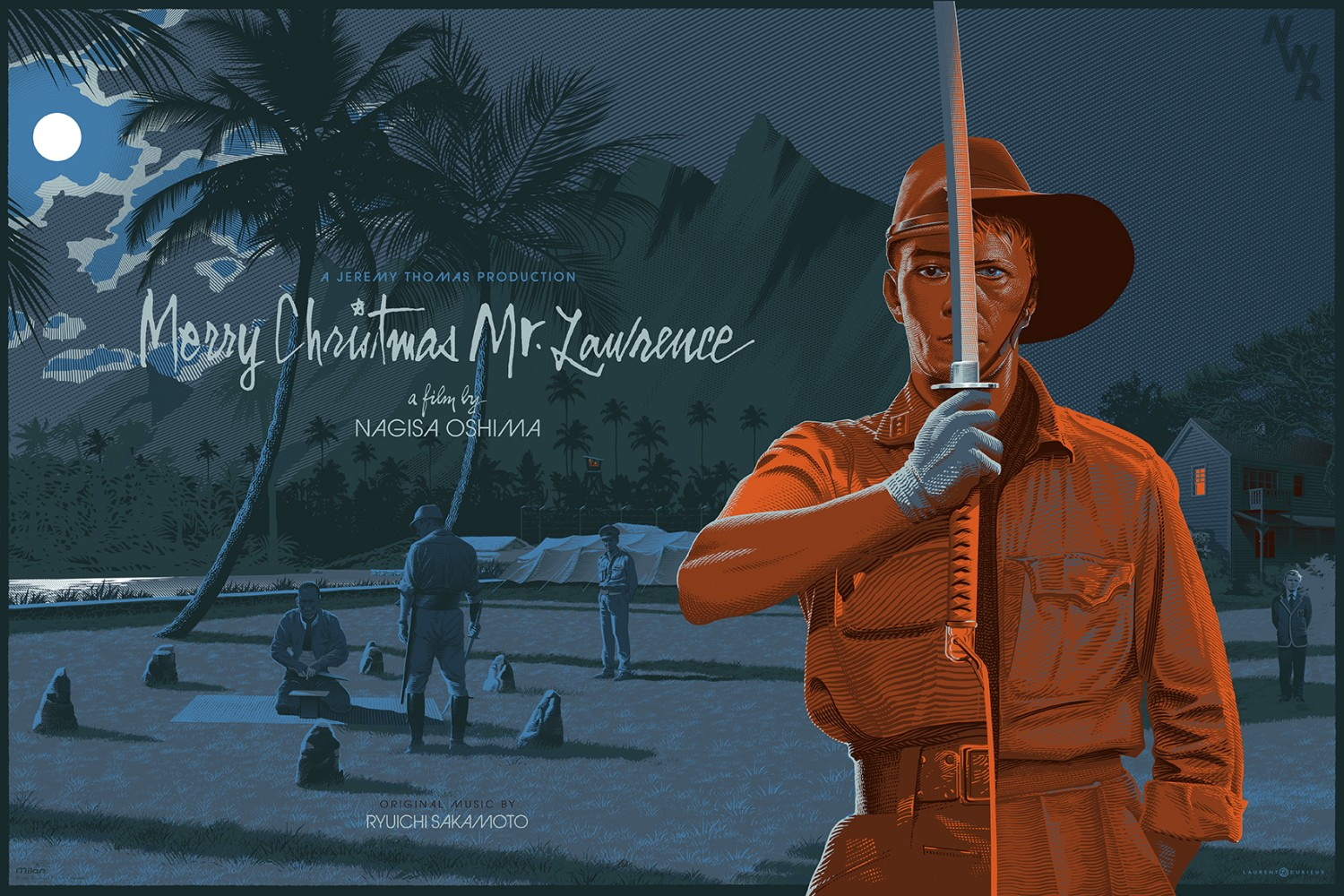 """Merry Christmas Mr. Lawrence"" by Laurent Durieux.  36"" x 24"" 10-color Screenprint.  Ed of 160 S/N.  70 euros ($75)"