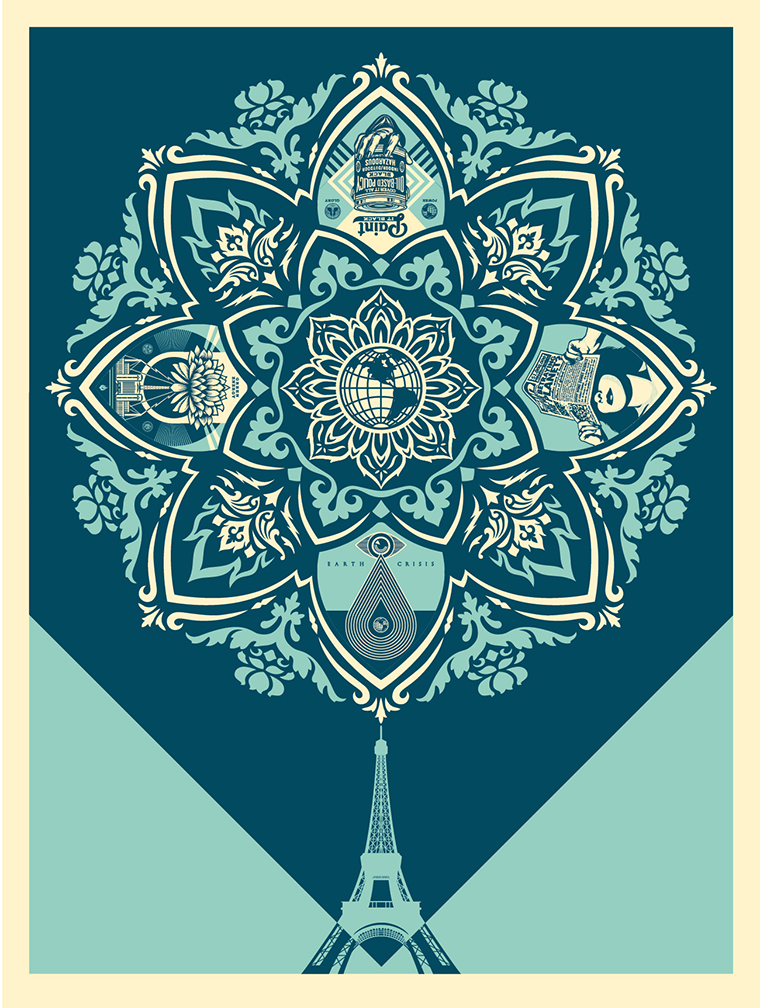 """A Delicate Balance"" by Shepard Fairey.  18"" x 24"" Screenprint.  Ed of 500 S/N.  $60"