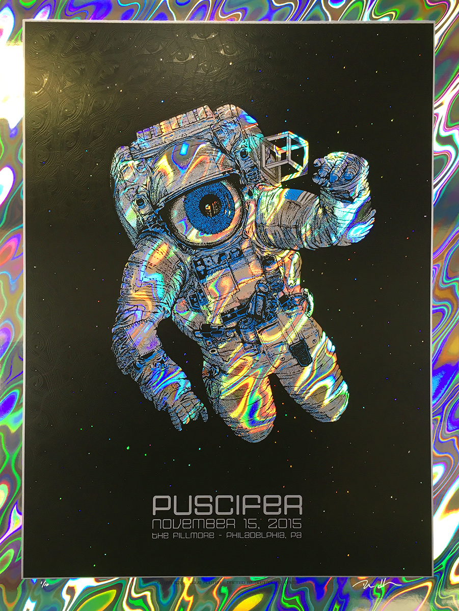 hunter Puscifer - Philadelphia, PA 2015 lava foil
