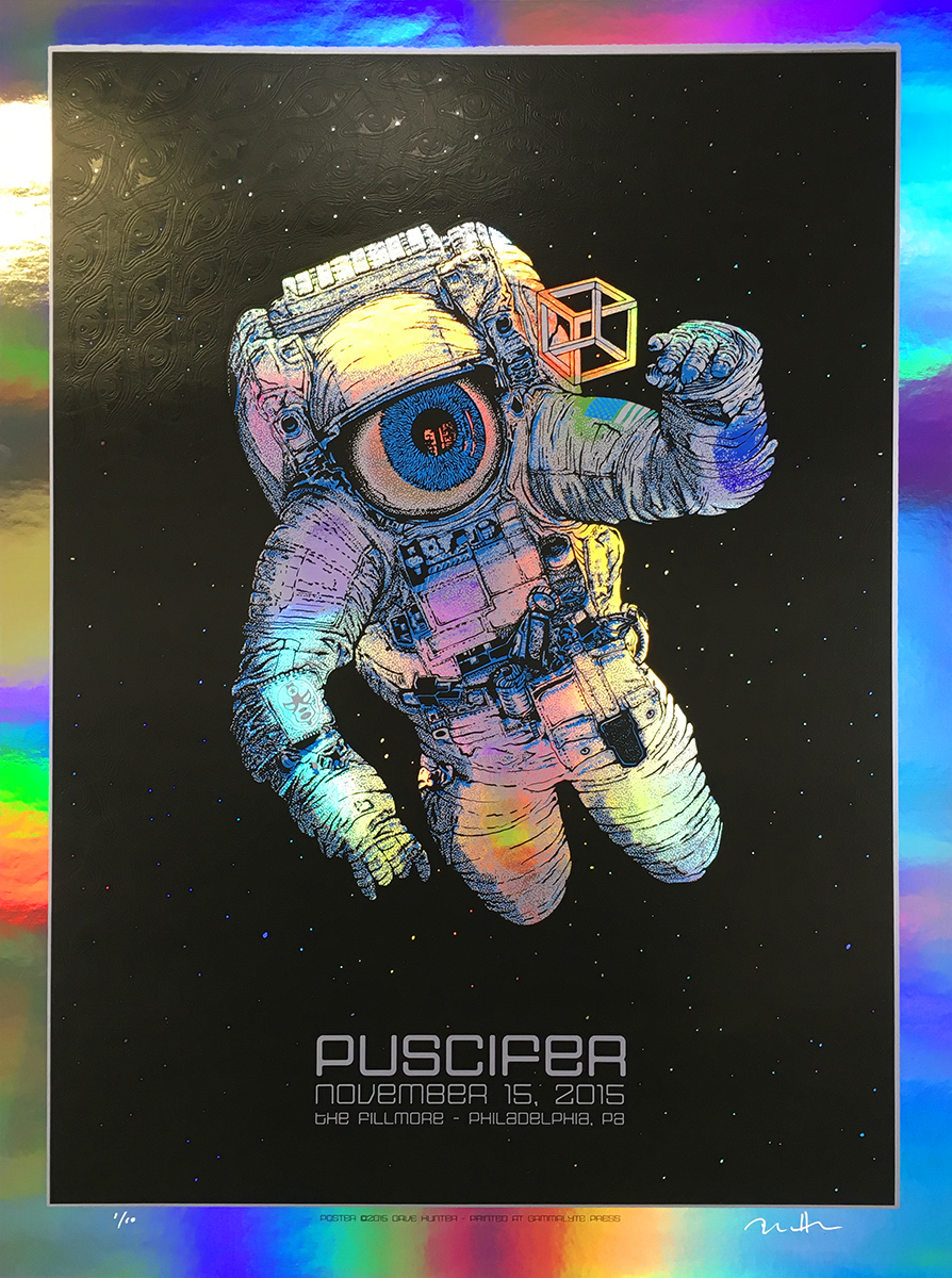 hunter Puscifer - Philadelphia, PA 2015 rainbow foil