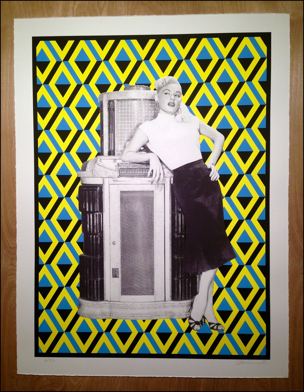 """Let's Dance"" by Tim Oliveira.  20.5"" x 27"" 3-color Screenprint.  Ed of 22 S/N.  $60 (First edition)"