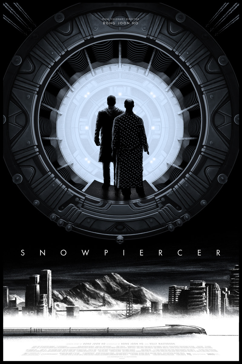 """Snowpiercer"" by JC Richard.  24"" x 36"" 7-color Screenprint.  Ed of 195 N.  $50"