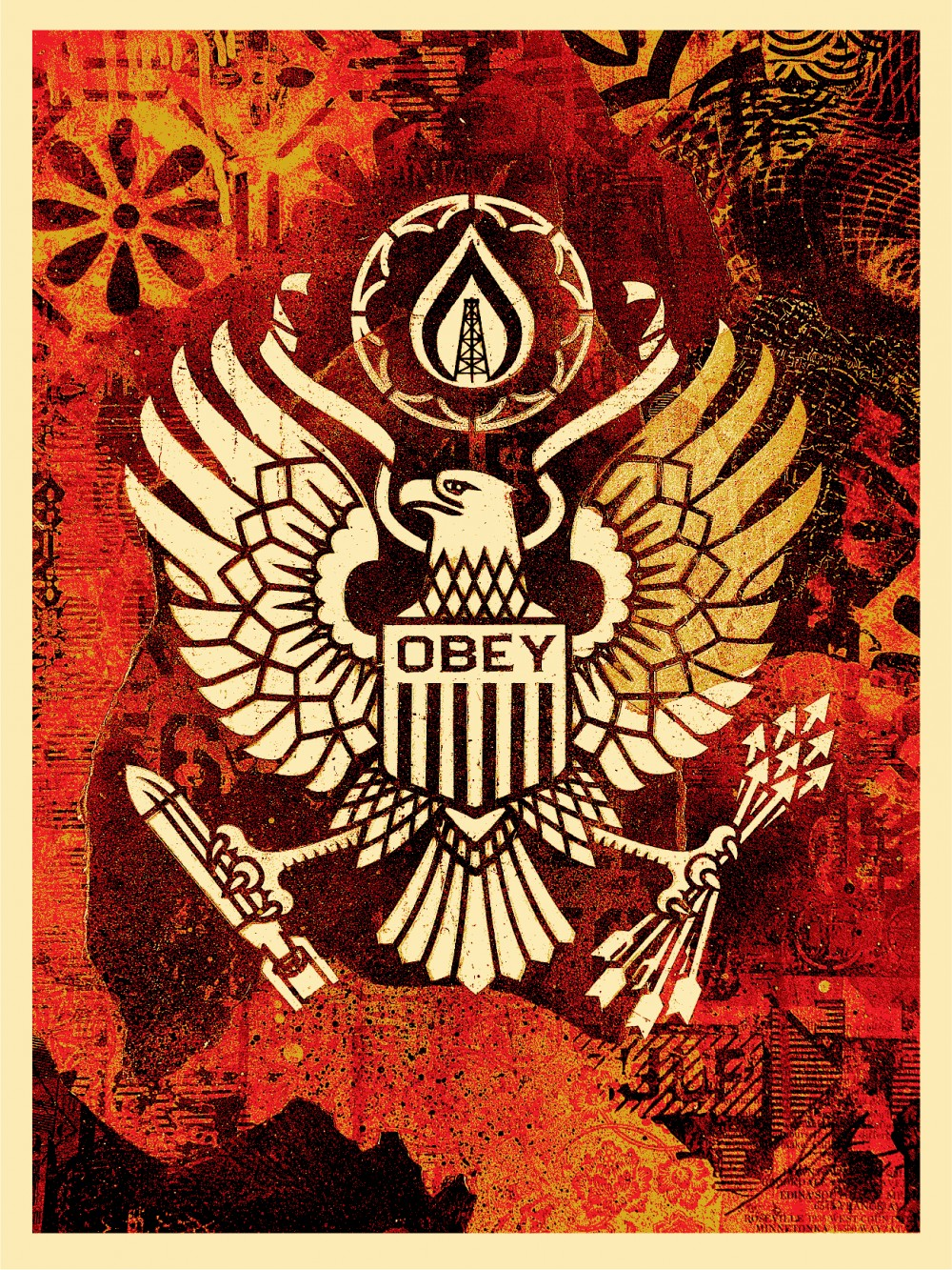 """Keep It Underground"" by Shepard Fairey.  18"" x 24"" Screenprint.  Ed of 450 S/N.  $45"