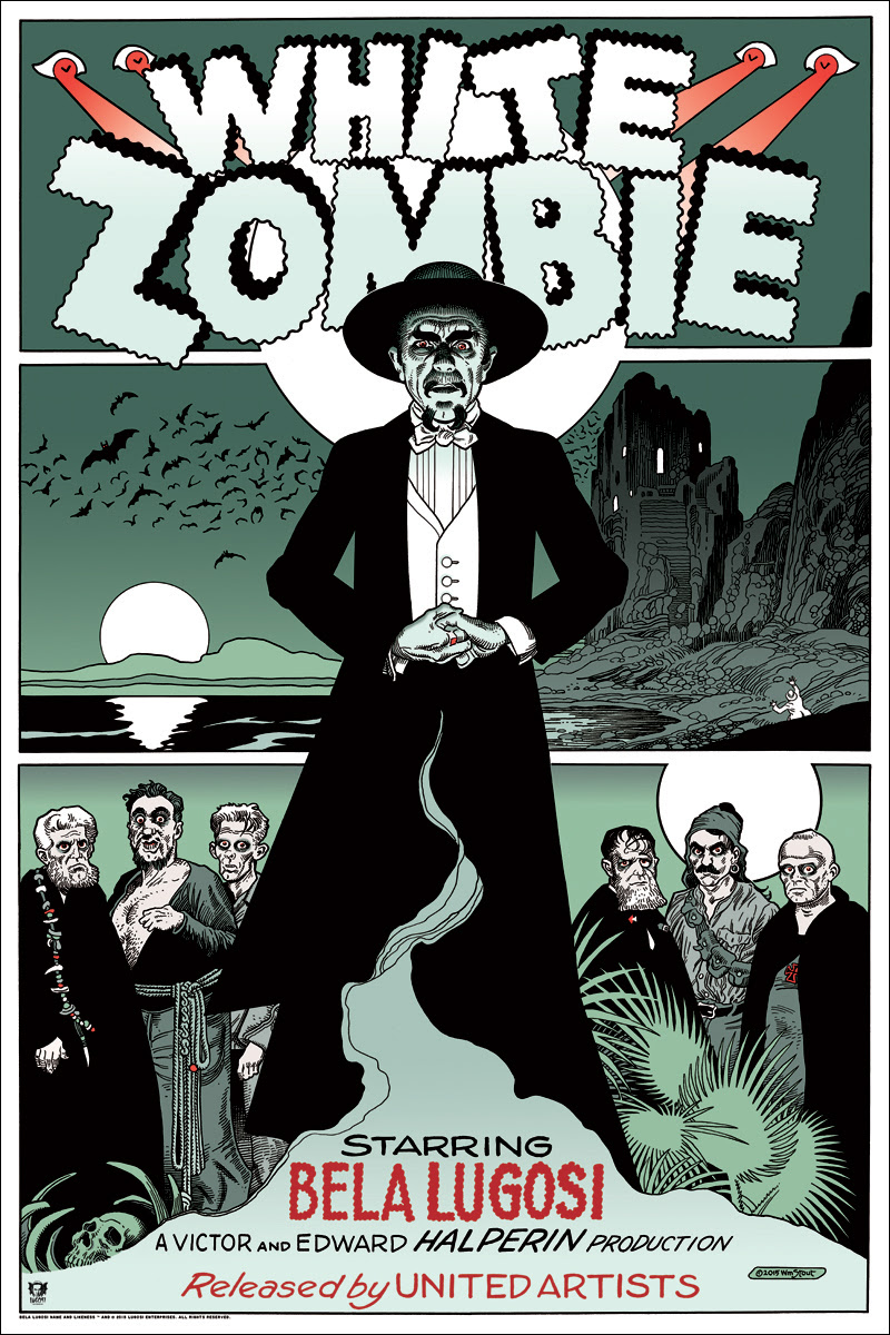 white zombie by william stout 24x36 screen print hand numbered - Zombie Pictures To Print