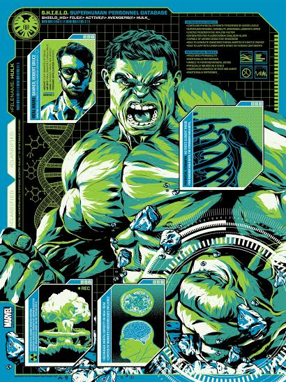 """The Hulk"" by Anthony Petrie.  18"" x 24"" Screenprint.  Ed of 125 N.  $40"