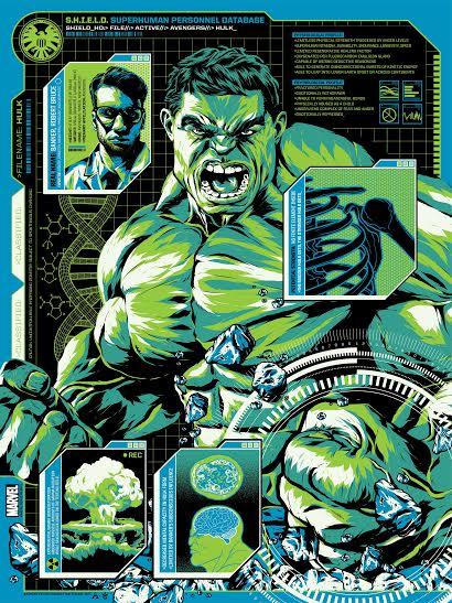 """""""The Hulk"""" by Anthony Petrie.  18"""" x 24"""" Screenprint.  Ed of 125 N.  $40"""