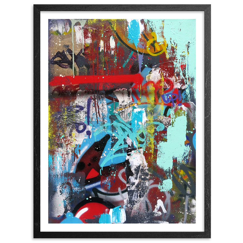 """""""The Grind"""" by Cope2.  15"""" x 20"""" Giclee.  Standard (Ed of 75, $100) : Hand-embellished (Ed of 15, $300)"""