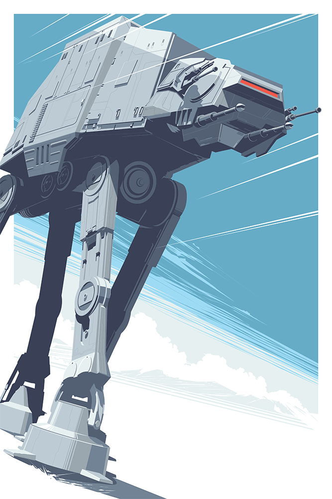 """AT - AT"" by Craig Drake.  24"" x 36"" Screenprint.  Ed of 225.  $60"