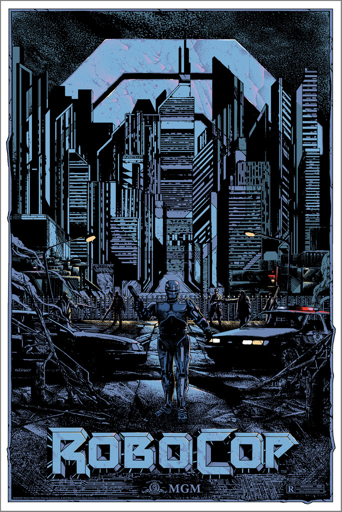 """Robocop"" by Kilian Eng.  24"" x 36"" Screenprint.  Ed of 220 N.  $45"