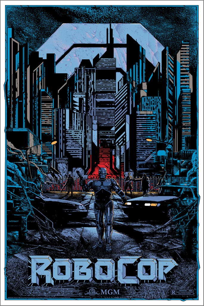 """Robocop"" by Kilian Eng.  24"" x 36"" Screenprint.  Ed of 110 N.  $60 (variant)"