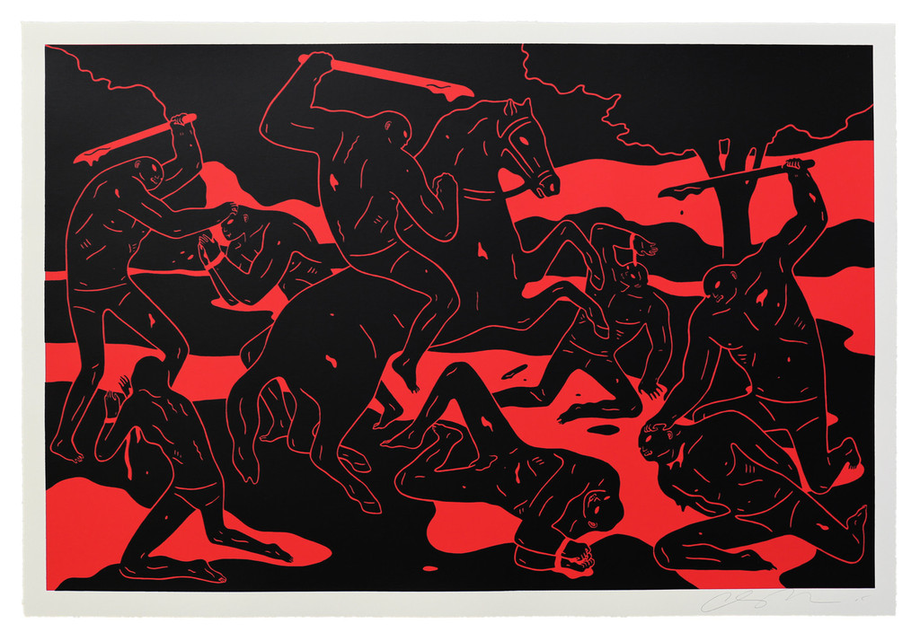 """River of Blood"" by Cleon Peterson.  40"" x 27"" Screenprint.  Ed of 150 S/N.  $300"