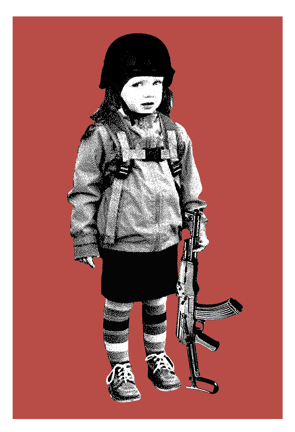 """Second Grade Amendment"" by Brian Methe.  Screenprint.  Ed of 20.  $30"