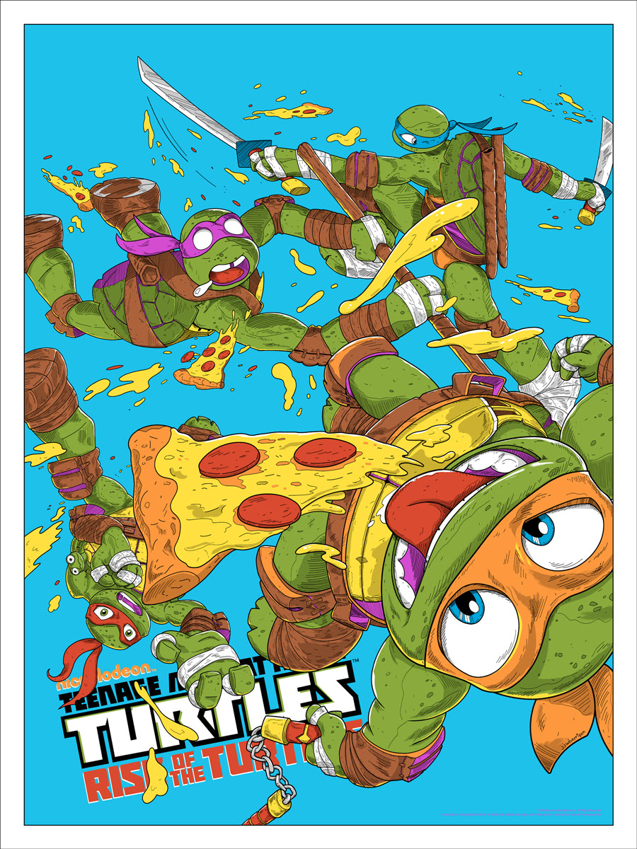 "TMNT: Rise of the Turtles (Variant) by JJ Harrison. 18""x24"" screen print. Hand numbered. Edition of 125. Printed by D&L Screenprinting. $60"