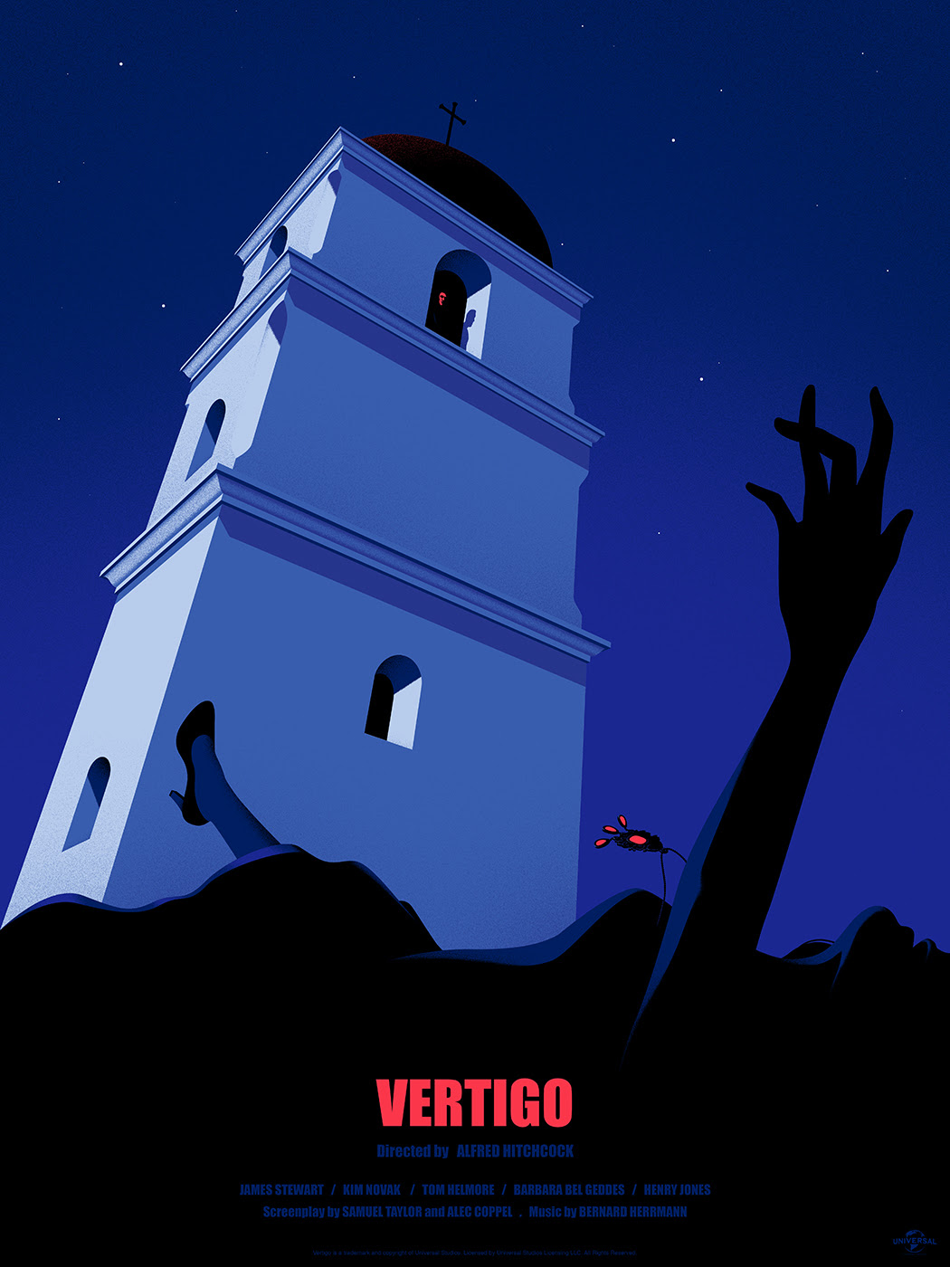 "Vertigo by Thomas Danthony. 18""x24"" screen print. Hand numbered. Edition of 175. Printed by D&L Screenprinting. $40"