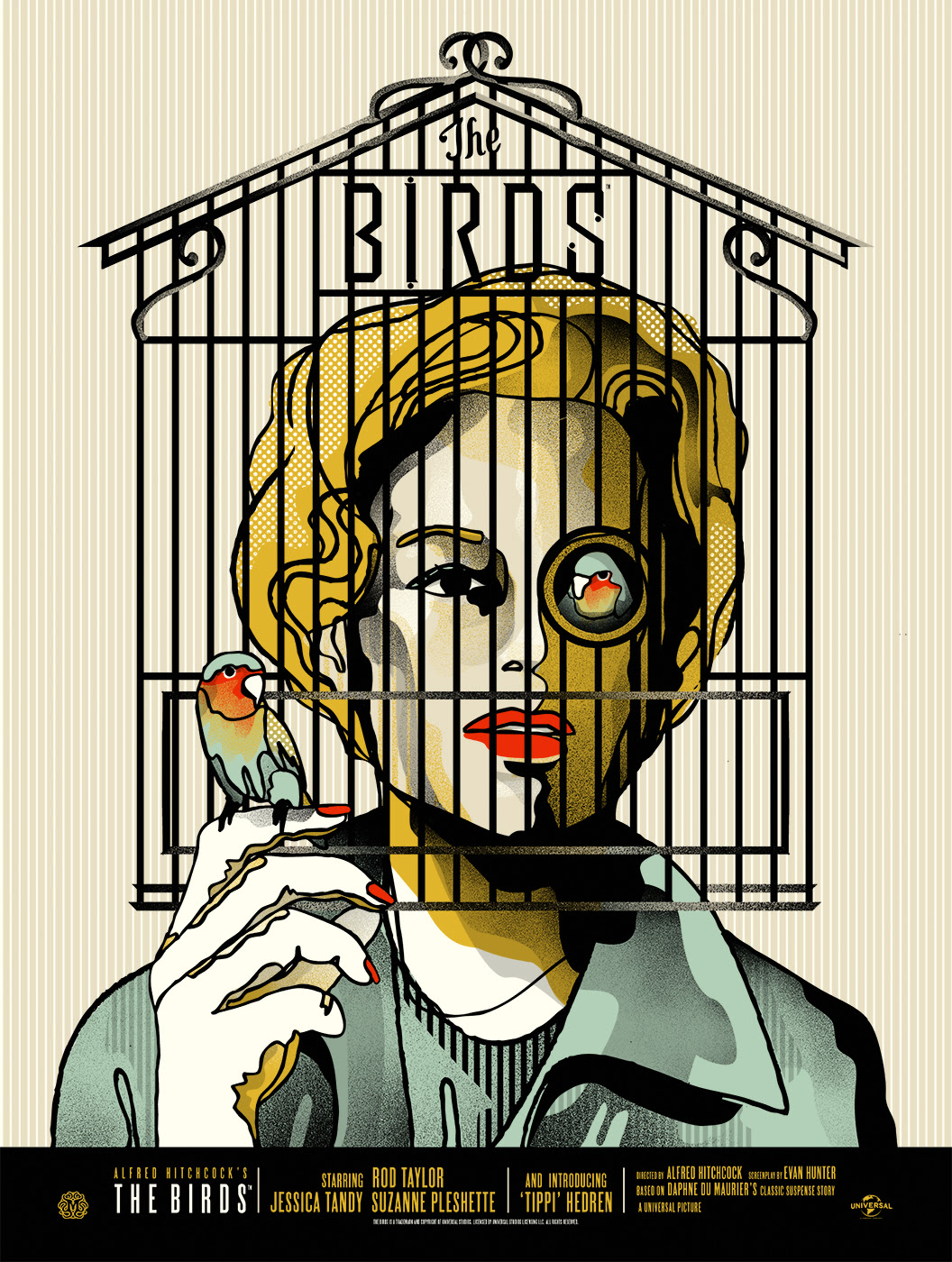 "The Birds by We Buy Your Kids. 18""x24"" screen print. Hand numbered. Edition of 150. Printed by D&L Screenprinting. $40"