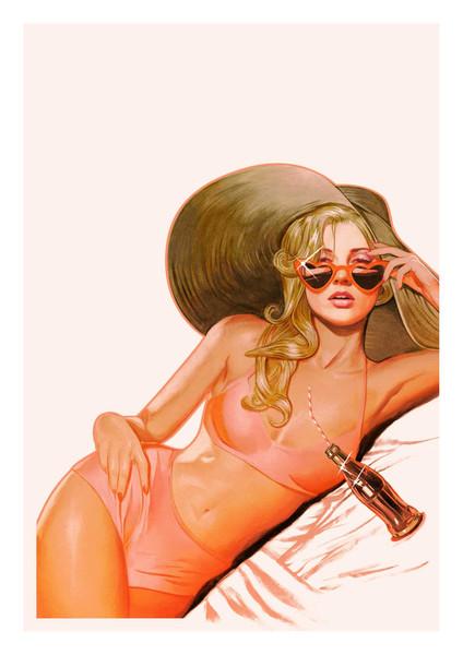 """Lolita"" by John Keaveney.  17"" x 24"" Giclee.  Ed of 45 N.  $45"