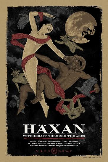 """Haxan: Witchcraft Through The Ages"" by Timothy Pittides.  20"" x 30"" 6-color Screenprint.  Ed of 75.  $40"