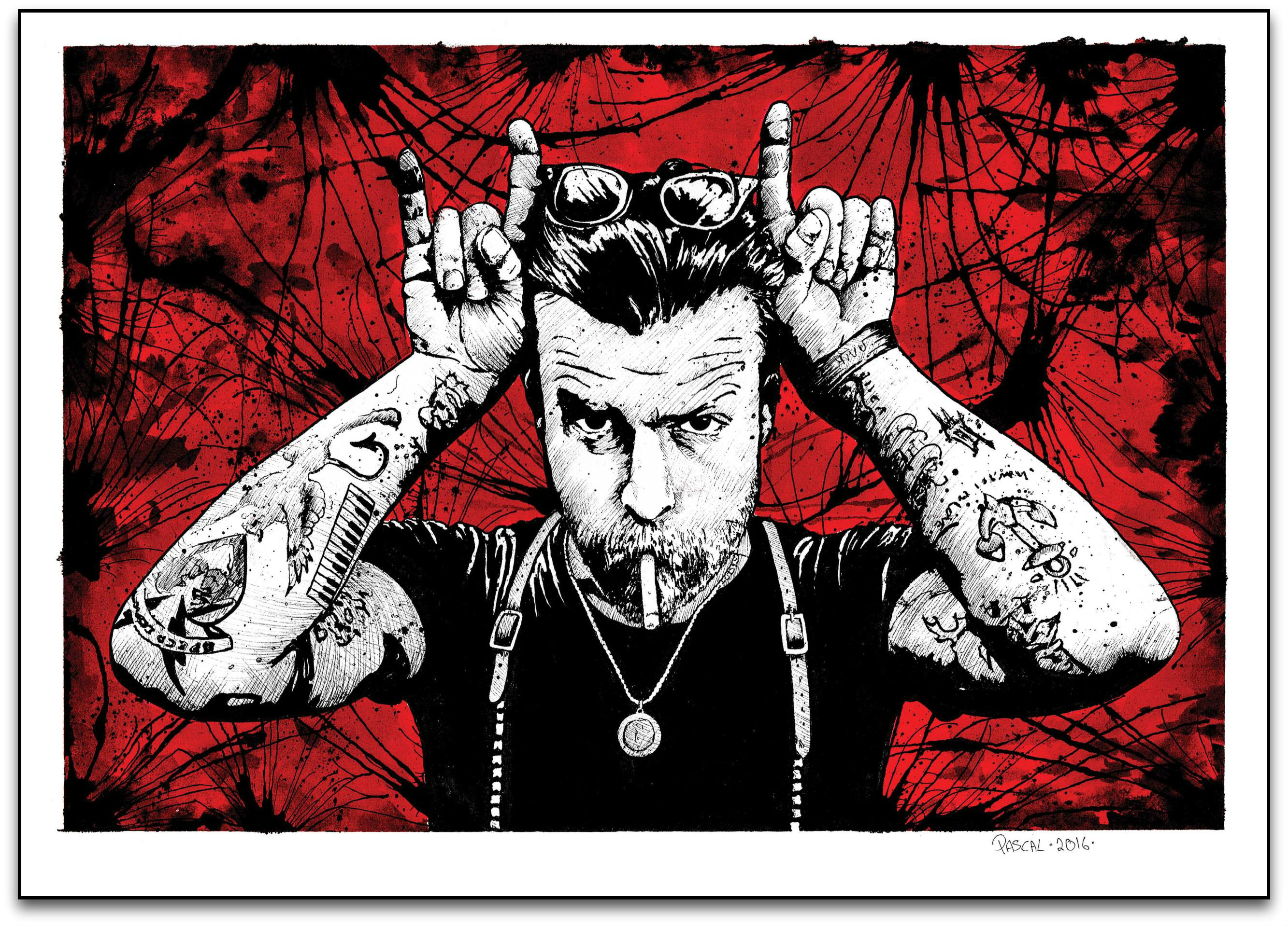 """Eagles of Death Metal. Jesse"" by Pascal D'Bras.  24"" x 18"" Giclee.  Ed of 250 S/N.  $55"
