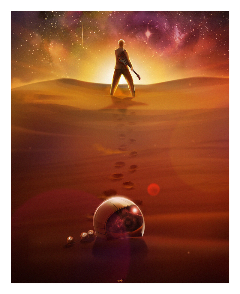 """Starman"" by Andy Fairhurst.  A3 Giclee.  Ed of 50.  $32"