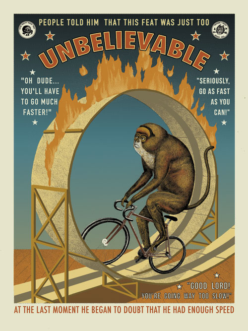 """Unbelievable"" by Arna Miller.  18"" x 24"" 5-color Screenprint.  Ed of 25.  $40"