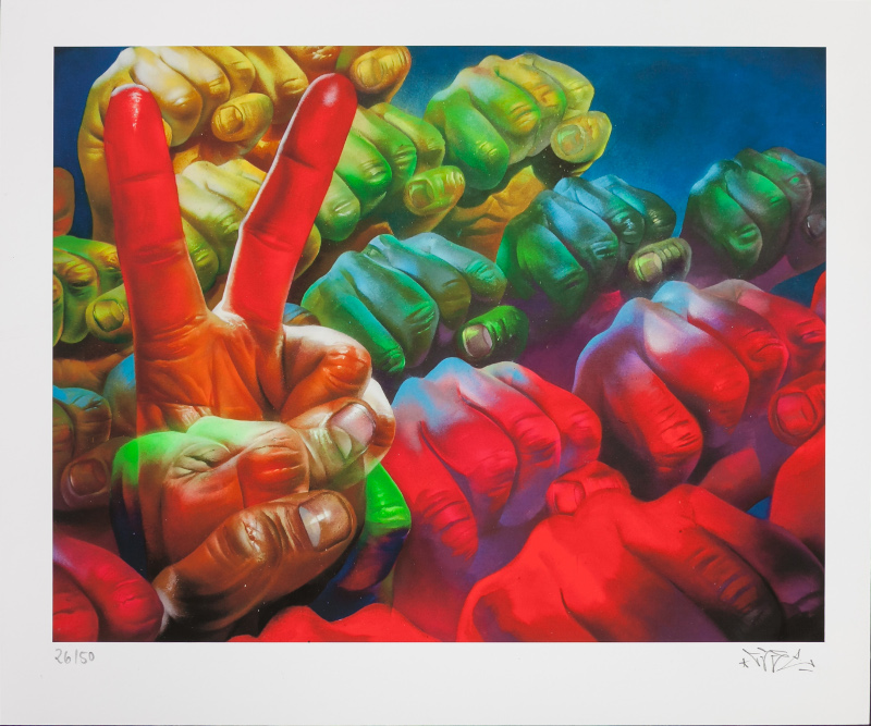 """Power Of Movement"" by Case.  38 x 46cm Giclee.  Ed of 50 S/N.  $150 Euros ($167)"