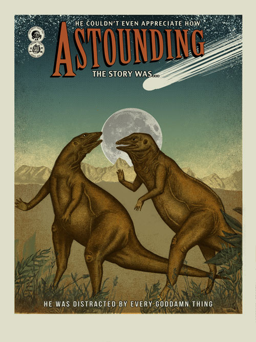 """Astounding"" by Arna Miller. 18″ x 24″ 7-color Screenprint. Ed of 25. $40"