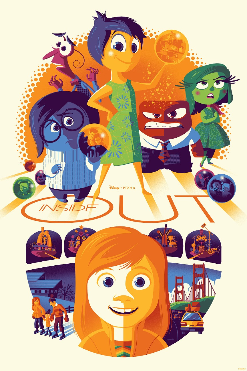 """Inside Out"" by Tom Whalen.  24"" x 36"" 12-color Screenprint.  Ed of 330 N.  $65"
