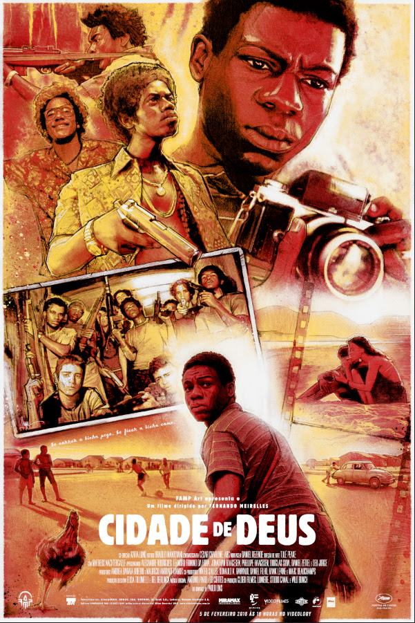 """City of God"" by Paul Shipper.  24"" x 36"" Screenprint w/ metallic gold.  Ed of 40 N.  $50"