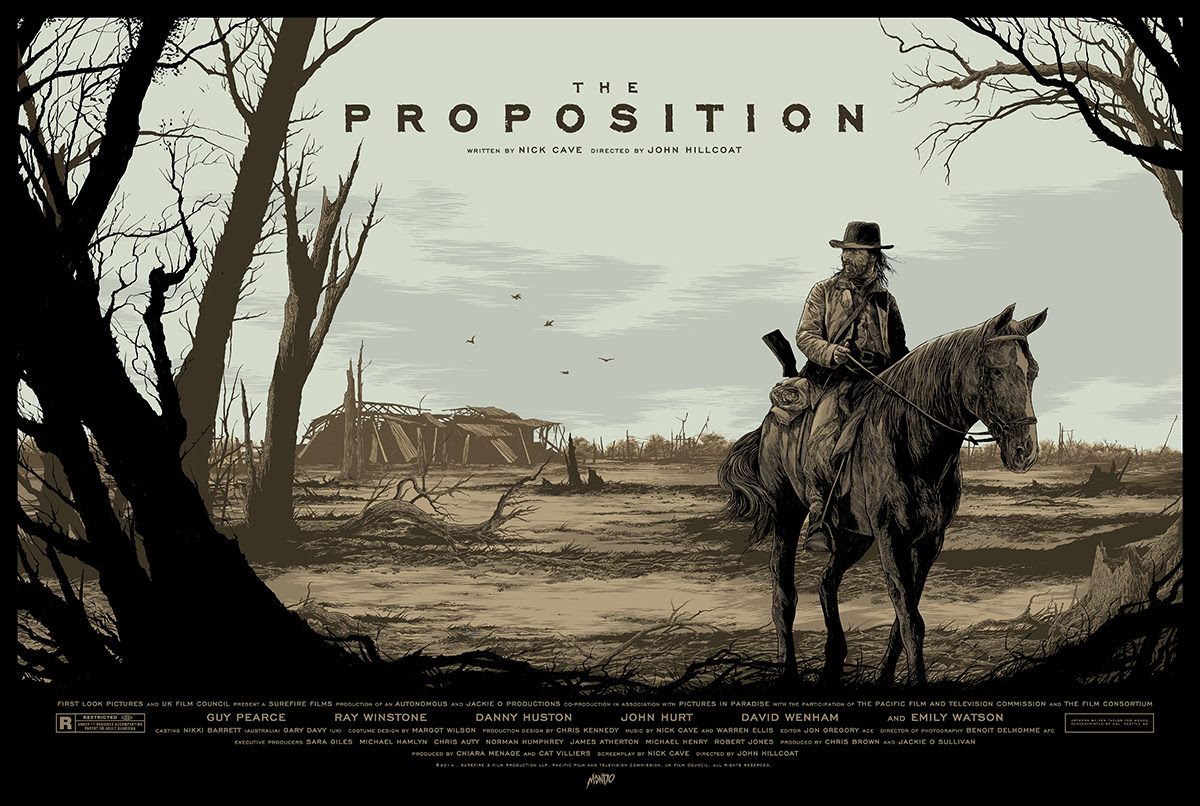 "The Proposition by Ken Taylor. 36""x24"" screen print. Hand numbered. Edition of 275. Printed by D&L Screenprinting. $45"