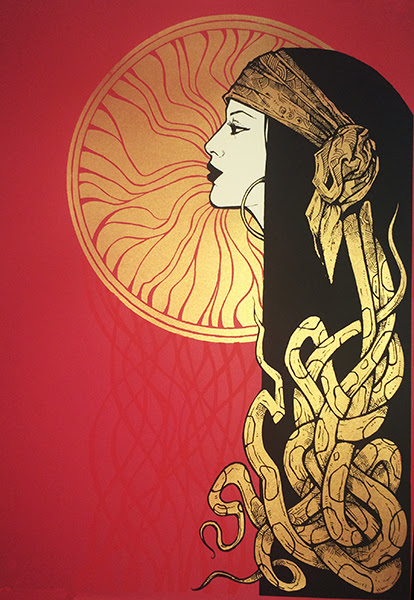 """""""Sole"""" by Malleus.  3-color Screenprint.  Ed of 40 S/N."""
