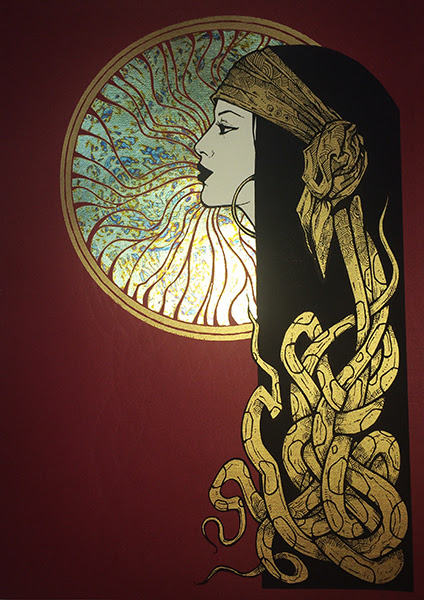 """Sole"" by Malleus.  3-color Screenprint w/ gold leaf.  Ed of 15 S/N. (variant)"