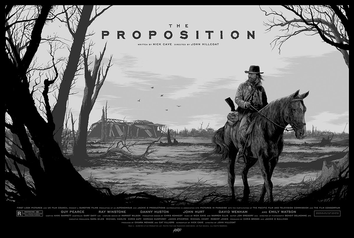 "The Proposition (Variant) by Ken Taylor. 36""x24"" screen print. Hand numbered. Edition of 125. Printed by D&L Screenprinting. $65"