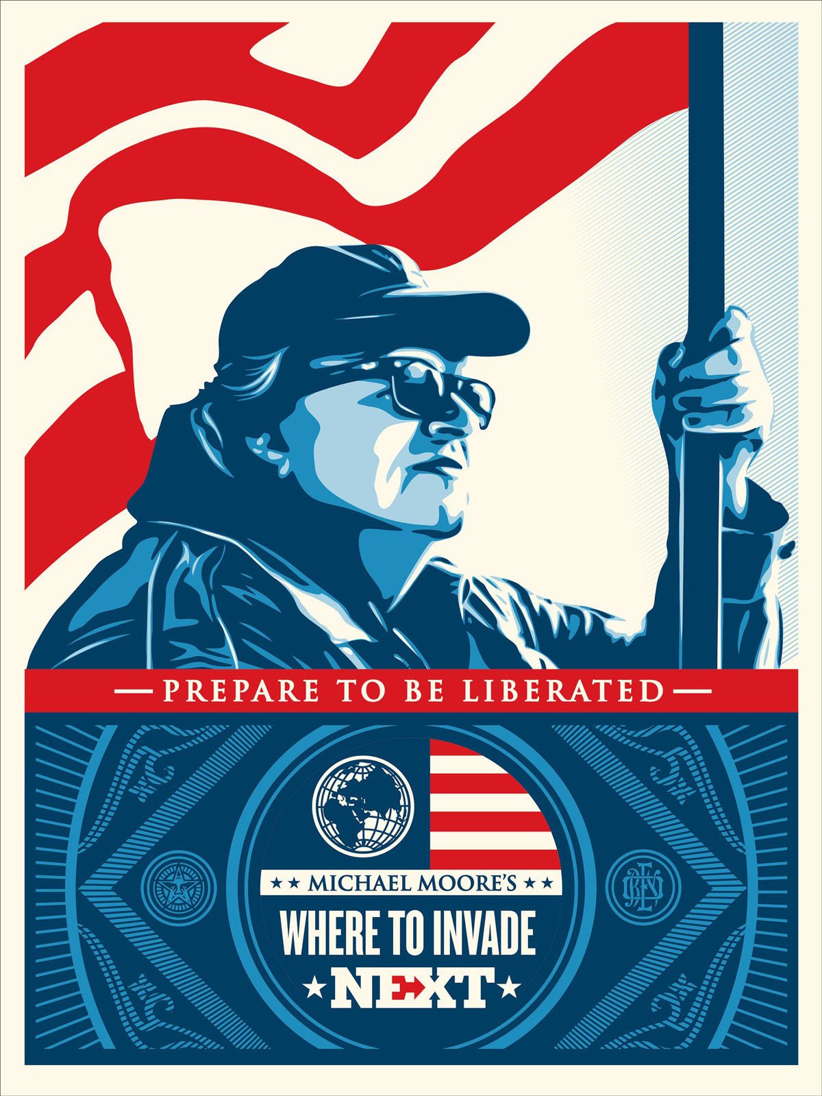 """Where To Invade Next"" by Shepard Fairey.  18"" x 24"" Screenprint.  Timed edition N.  $40"