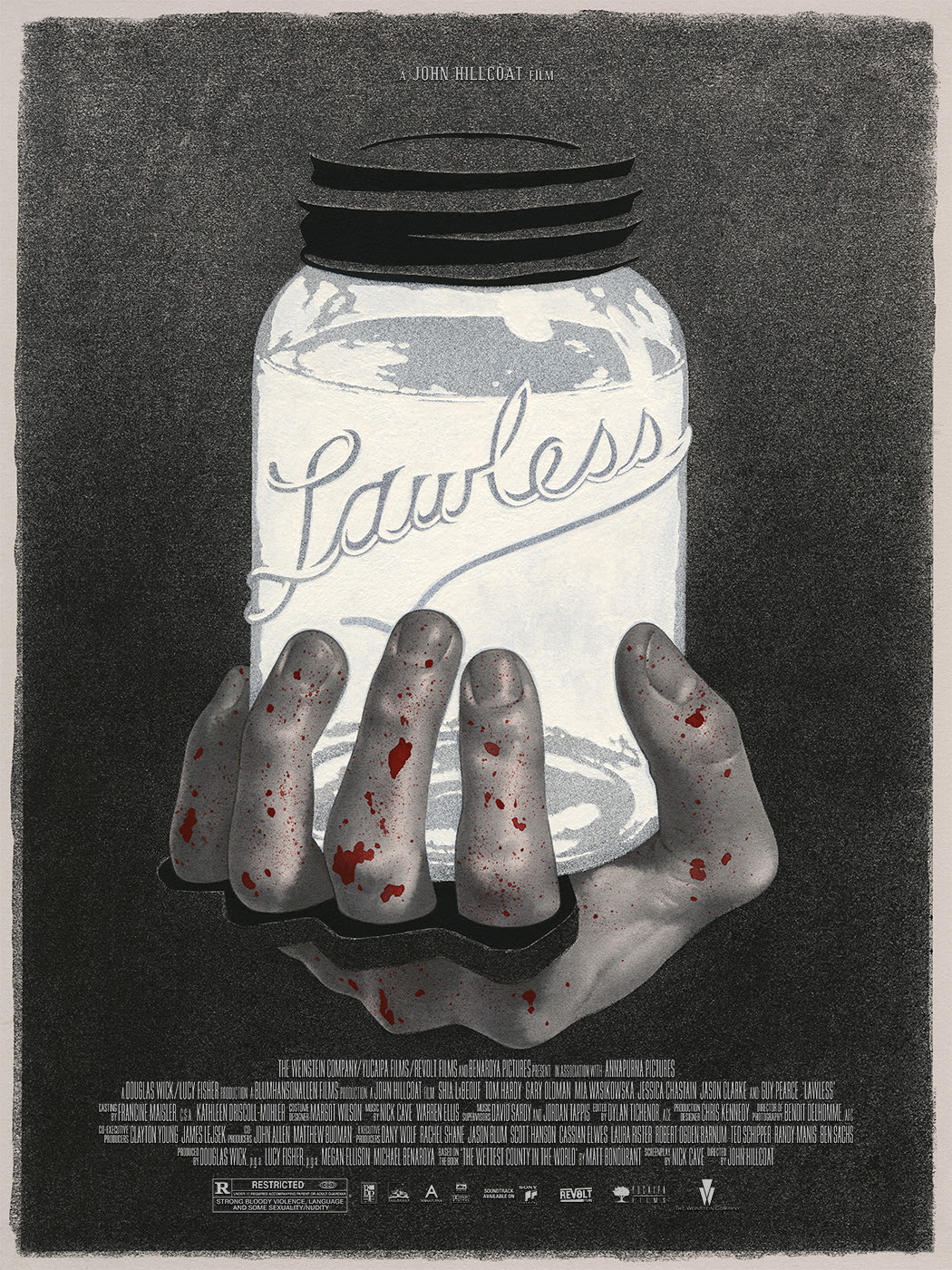 "Lawless by Edward Kinsella. 18""x24"" screen print. Hand numbered. Edition of 100. Printed by D&L Screenprinting. $40"