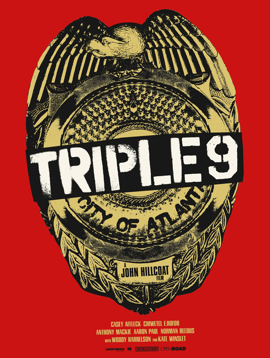 "Triple 9 by Jay Shaw. 18""x24"" screen print. Hand numbered. Edition of 125. Printed by Industry Print Shop. $40"