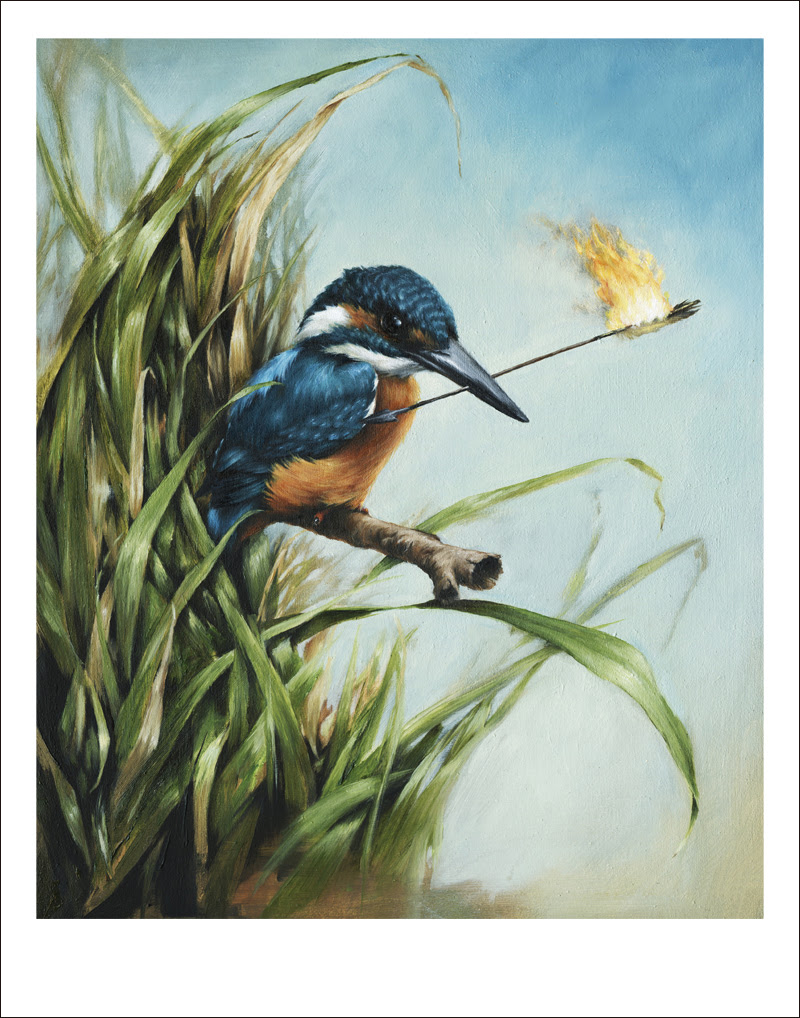 """As Kingfishers Catch Fire"" by Vanessa Foley.  11"" x 14"" Giclee.  Ed of 70 S/N.  $50 set"