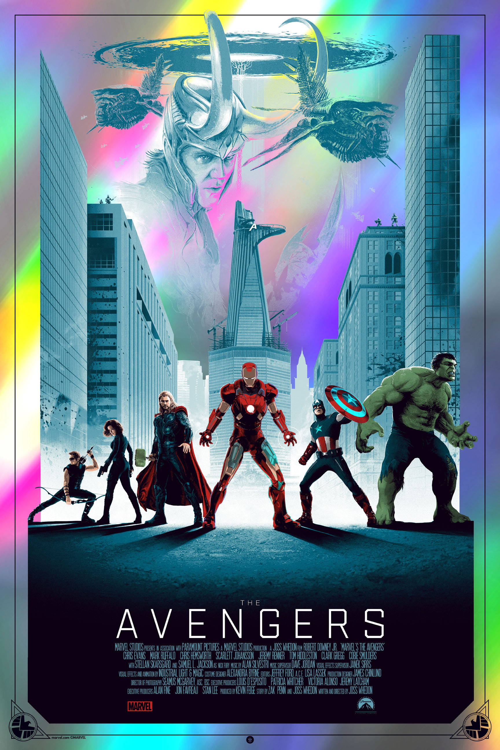 """The Avengers"" by Matt Ferguson.  24"" x 36"" Screenprint.  Ed of 75.  $100 (Foil variant)"