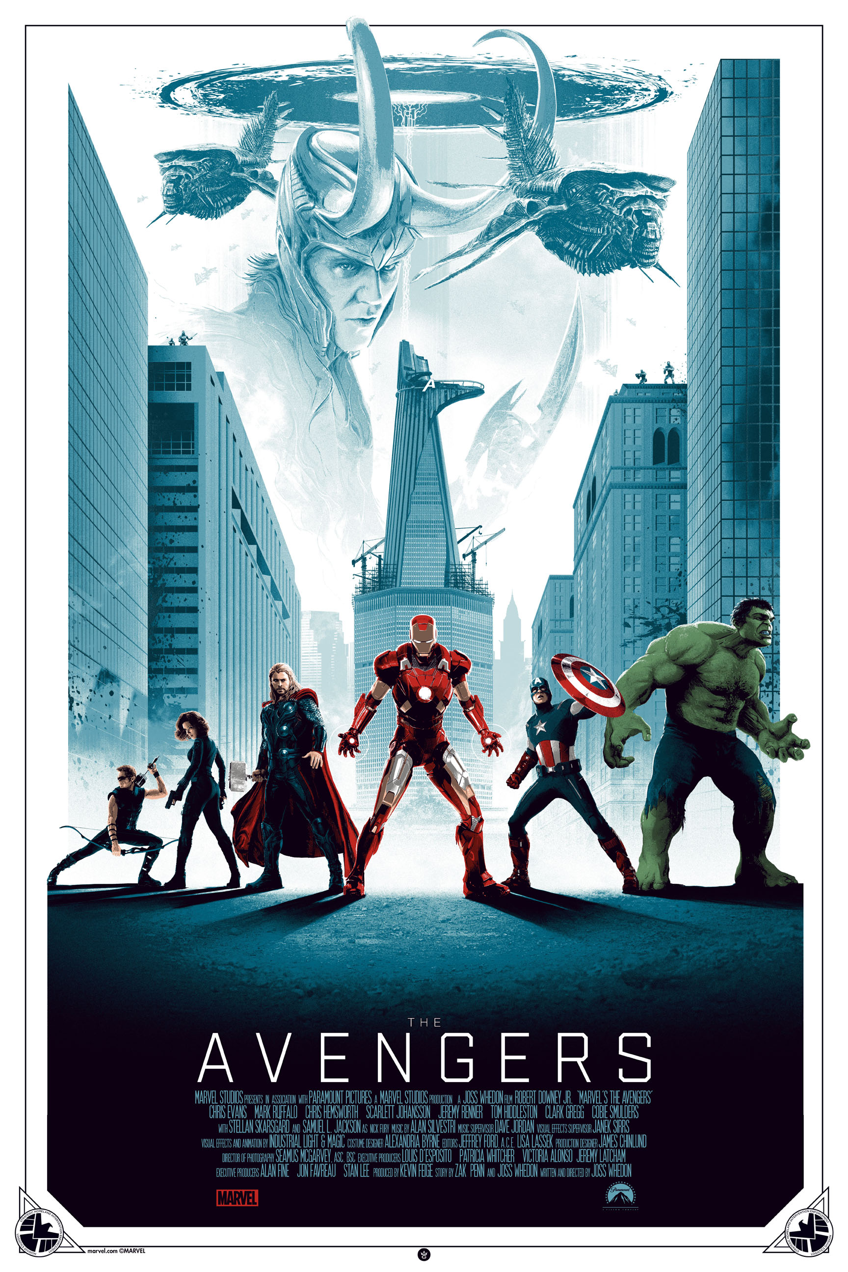"""The Avengers"" by Matt Ferguson.  24"" x 36"" Screenprint.  Ed of 175.  $50"