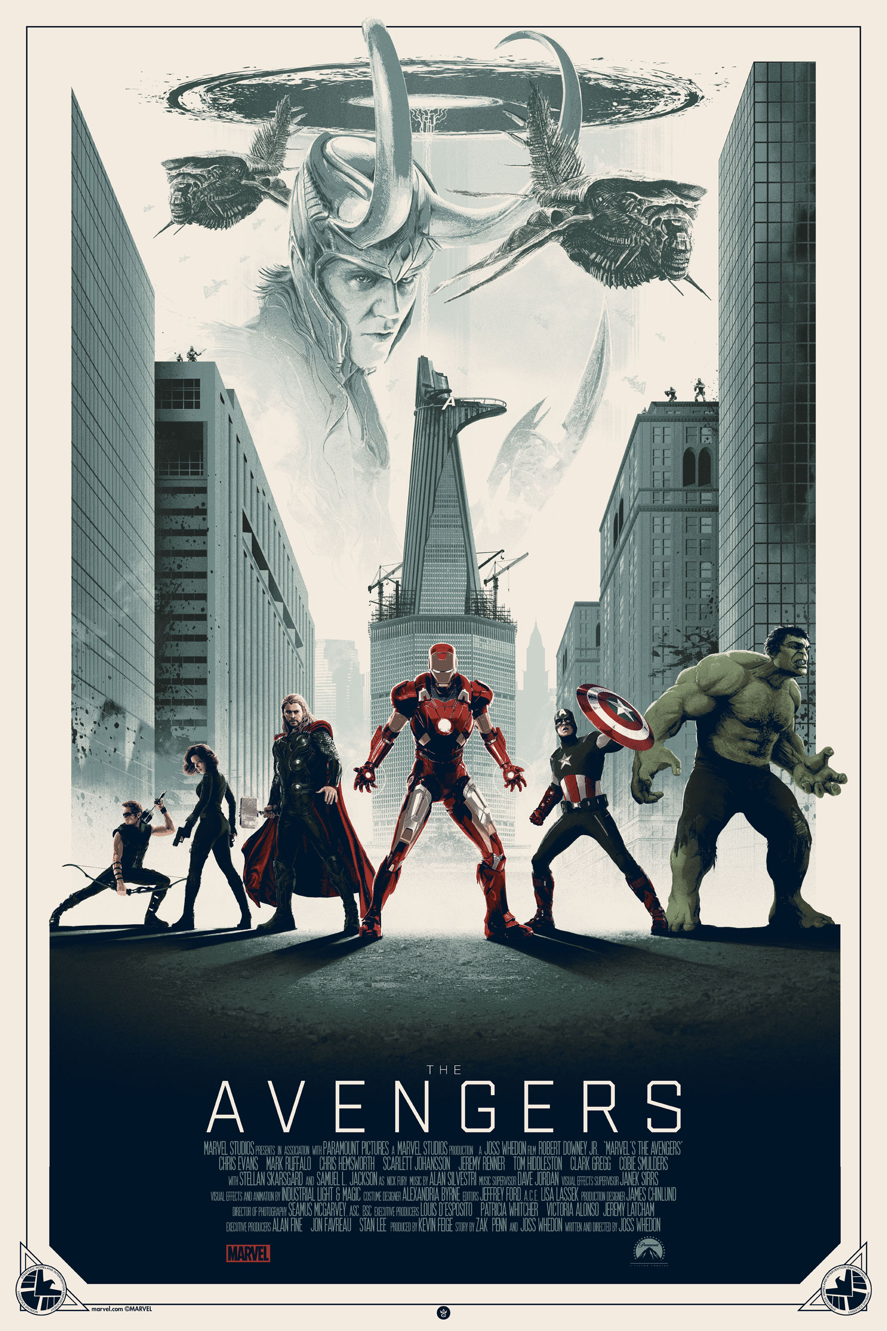 """The Avengers"" by Matt Ferguson.  24"" x 36"" Screenprint.  Ed of 100.  $70 (variant)"