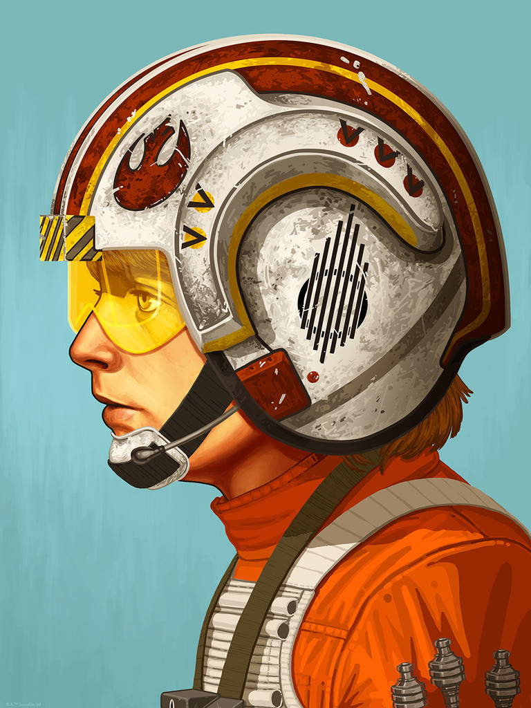 """Red Five"" by Mike Mitchell.  12"" x 16"" Giclee.  Timed edition N.  $55"