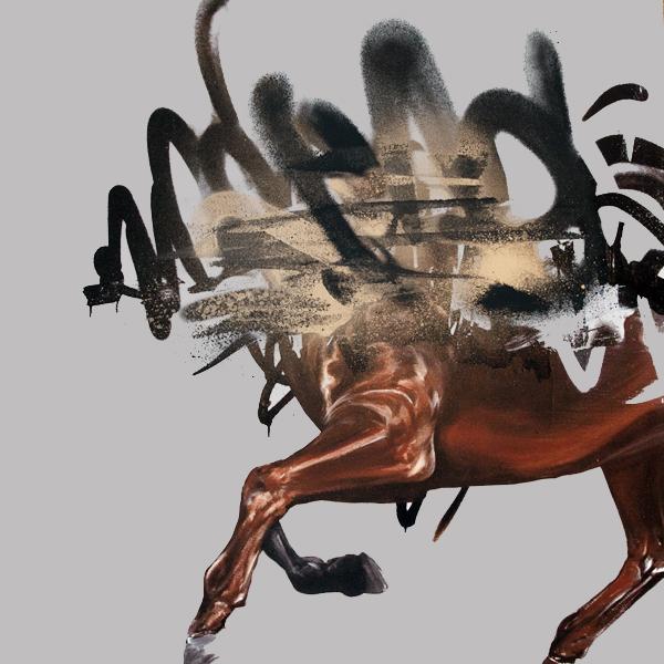 """The Raid"" by Shai Dahan.  50 x 50cm Giclee, hand-embellished.  Ed of 10 S/N.  2600 KR ($313)"