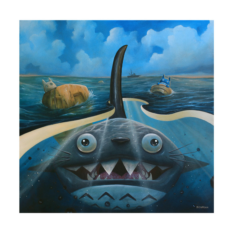 """We're Gonna Need a Bigger Bus"" by Graham Curran.  12"" x 12"" Giclee.  Ed of 30 S/N.  $35"