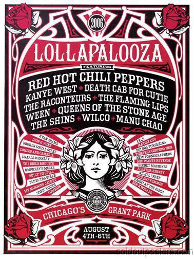 """Lollapalooza 2006"" by Shepard Fairey"