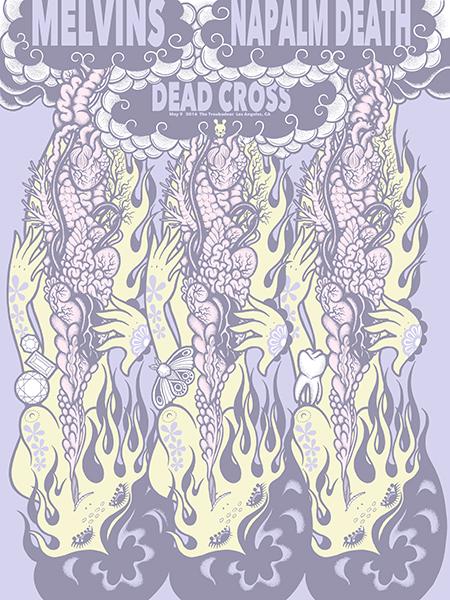 mizuno Melvins  Napalm Death - Los Angeles, CA 2016