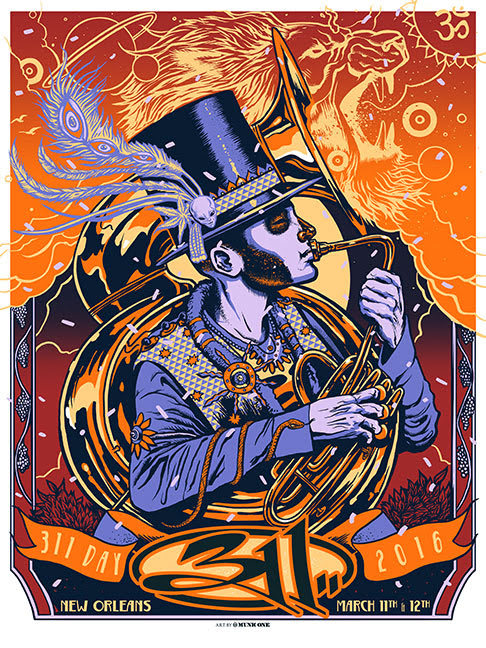 """311 - New Orleans, LA 2016"" by Munk One"