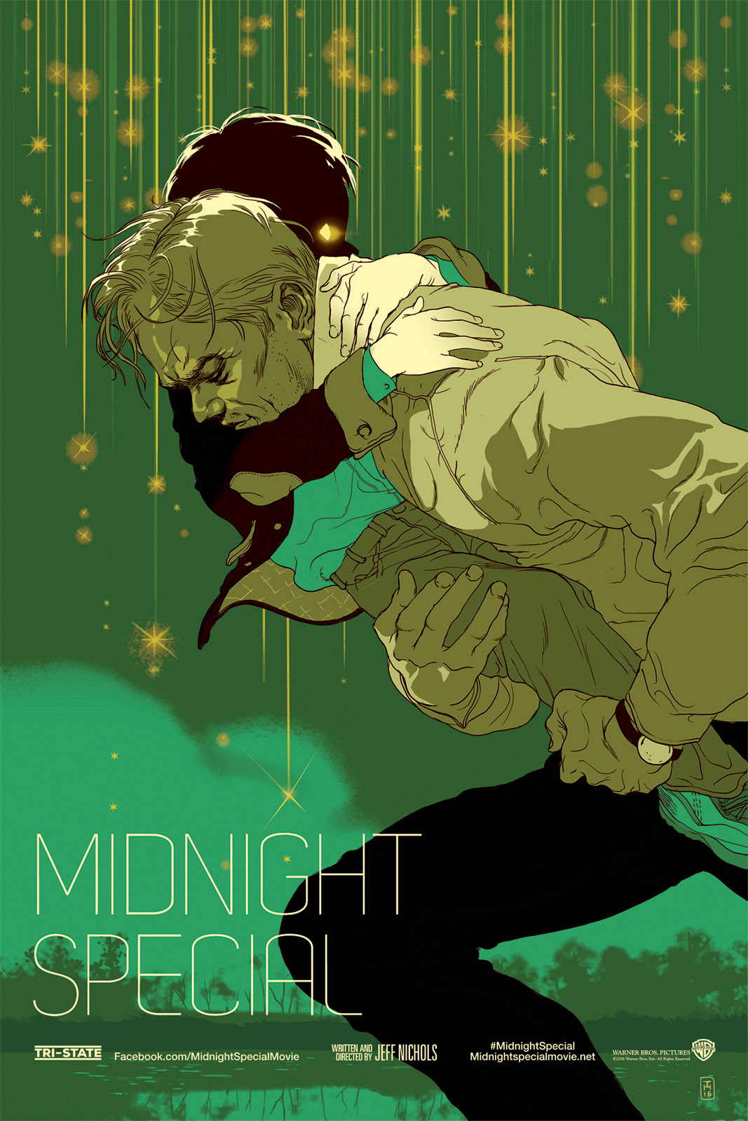 "Midnight Special by Tomer Hanuka. 24""x36"" screen print. Hand numbered. Edition of 250. Printed by D&L Screenprinting. $45"